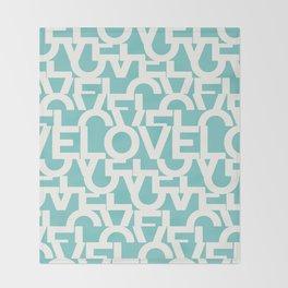 Hidden blue LOVE message Throw Blanket