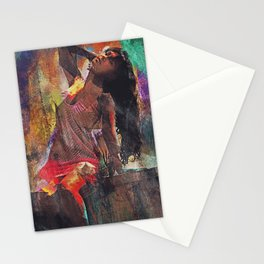 Fences Abstract Portrait Stationery Cards