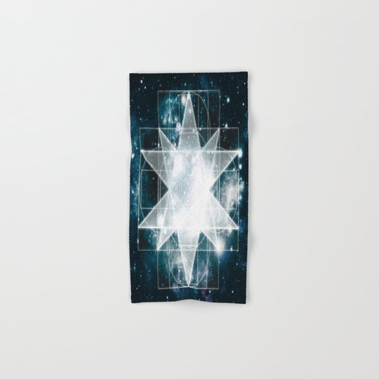 Sacred Geometry : Teal Galaxy Hand & Bath Towel