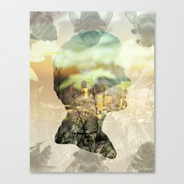 Chewing on Cities | Sweet Sustenance Canvas Print