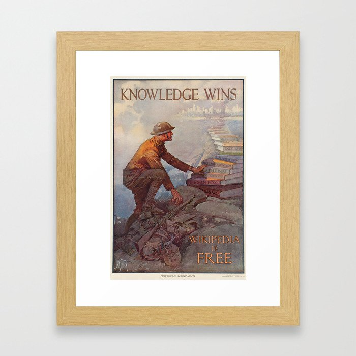 Wikipedia is Free Framed Art Print