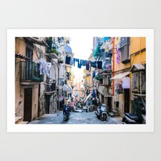 A Day in the Life, Napoli, Italy Art Print