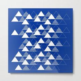 Waves on Blue Metal Print