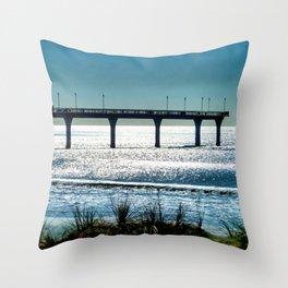 The Pier's Silhouette Throw Pillow