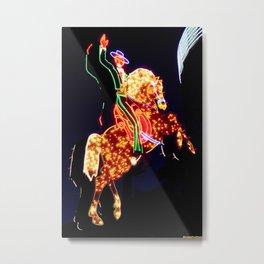 Electric Horseman Metal Print