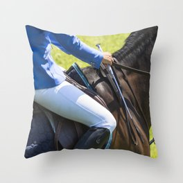 Horse Jumping I Throw Pillow