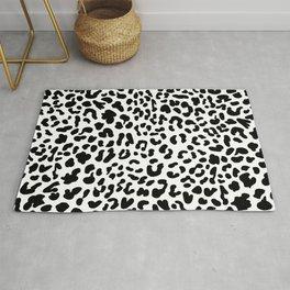 Black & White Leopard Skin Rug