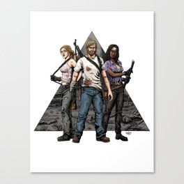 Walking Dead Trinity Canvas Print