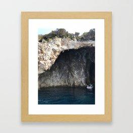 Glass Bottom Boat Framed Art Print