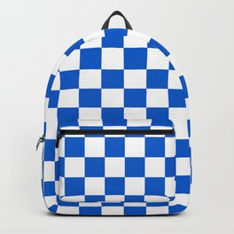 Gingham Brilliant Blue Checked Pattern Backpack
