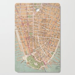 Vintage Map of Lower Manhattan (1921) Cutting Board