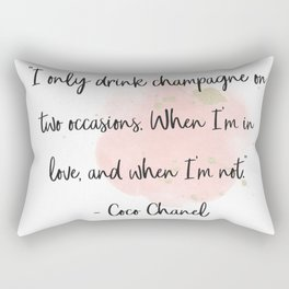 Champagne love II Rectangular Pillow