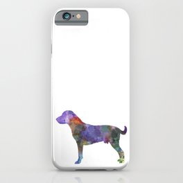 Harrier dog in watercolor iPhone Case