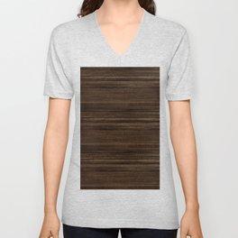 Natural Rustic Fiber - Dark Wood  Unisex V-Neck