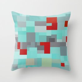 Patchwork Story Throw Pillow