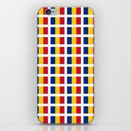 Flag of romania-romania,romanian,balkan,bucharest,danube,romani,romana,bucuresti iPhone Skin