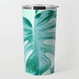 Tropical Monstera Leaves Dream #4 #tropical #decor #art #society6 Travel Mug