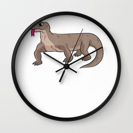 Just a Boy Who Loves Komodo Dragons Funny Komodo Dragon Boy T-Shirt Wall Clock