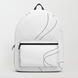 Minimal Line Art One Line Female Figure I Backpack