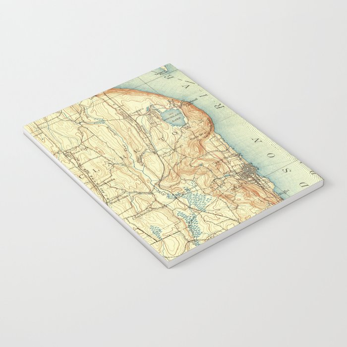 Vintage Map of Tarrytown NY & The Hudson River Notebook