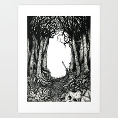 Le petit charnier. Art Print