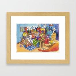 Story Time Framed Art Print