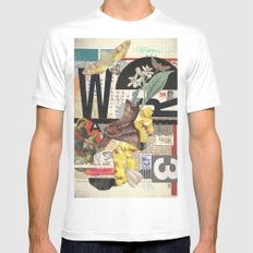 W3 Mens Fitted Tee White MEDIUM