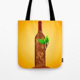 Eco-friendly Wine Illustration Tote Bag