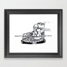 Knight cart bumper Framed Art Print