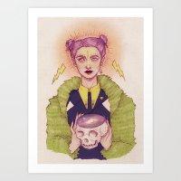 witch Art Prints featuring Witch by Vortex Vixen