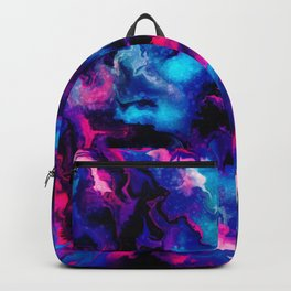 Pink and blue Marble Backpack