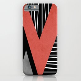 Triangles geometry iPhone Case