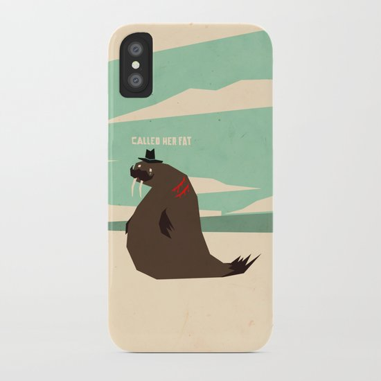 W is for walrus iPhone Case