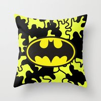 gotham Throw Pillows featuring Gotham by Melis Kalpakçıoğlu