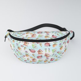 Out in The Garden Pattern Fanny Pack