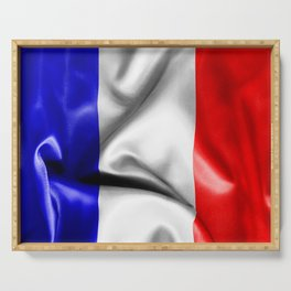 France Flag Serving Tray
