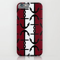 Anchors: Red, Coral and White Slim Case iPhone 6s