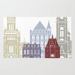 Aachen skyline poster Rug