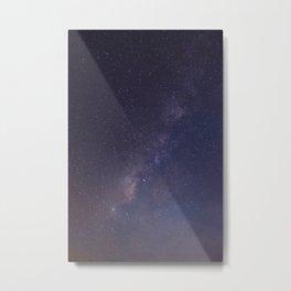 Purple Star Galaxy Metal Print