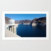 Hover Dam Art Print