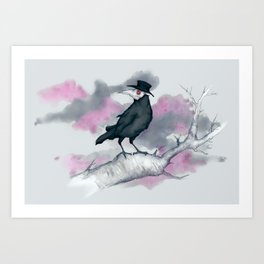 Plague Doctor Crow Art Print