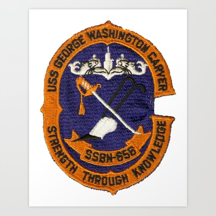 USS GEORGE WASHINGTON CARVER (SSBN-656) PATCH Kunstdrucke