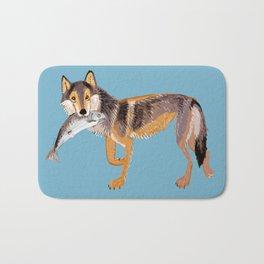 Totem Coastal wolf (Vancouver Wolf) Bath Mat