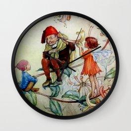 """""""Honeysuckle Ear Trumpet"""" by Margaret Tarrant Wall Clock"""