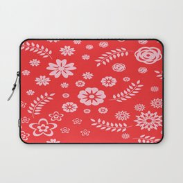Floral Pattern Laptop Sleeve