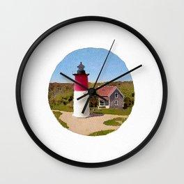 Nauset Lighthouse- Cape cod Wall Clock