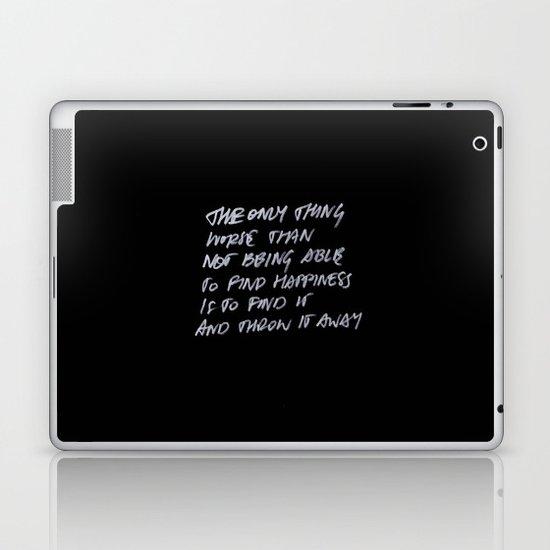 Throw Away Laptop & iPad Skin
