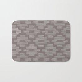 Gray Basketweave Pattern Bath Mat