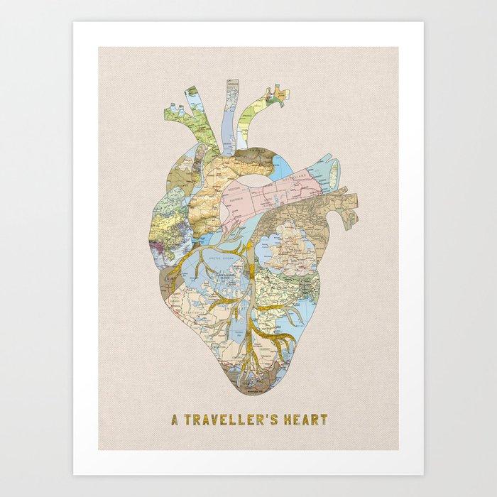 A Traveller's Heart (UK) Art Print