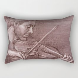 Violinist plays music Rectangular Pillow